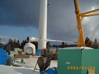 巨大な風車発電を作る